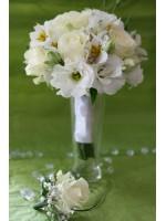 Кръгъл сватбен букет